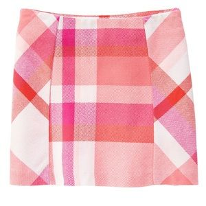 Gymboree pink plaid skirt